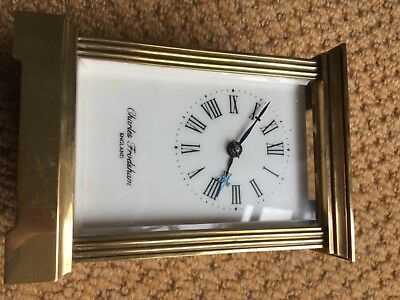 Vintage Brass Carriage Clock newly serviced and working