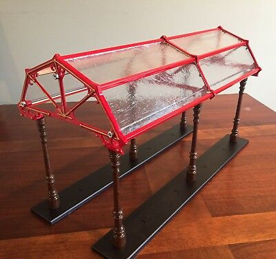 ULTRA Rare FACTORY ASSEMBLED Pride  Lines IVES CLEAR GLASS  Dome Train Shed.