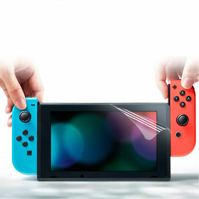 TPU Film Clear Screen Protector Guard Covers For Nintendo Switch ( 2 Pack ) UK