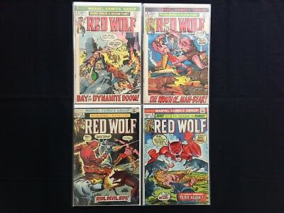 RED WOLF Lot of 4 Marvel Comic Books - #2 4 6 9!