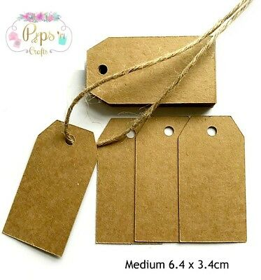 50 Quality Kraft Card Gift Tags - Gift Label Favours Card Making Crafts