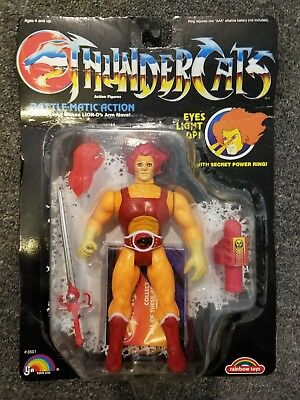 Thundercats RED Lion-O action figure 1985 good shape on card