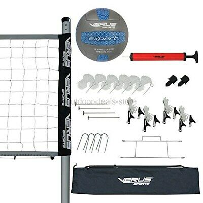 Verus Sports Expert Volleyball Set (equipped with net, ball, poles, stakes,