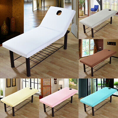 Breathable Massage Table Sheet with Elastic Band Hole Salon Couch Bed Cover