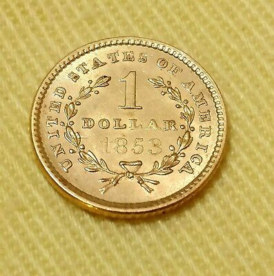 1853 G$1 Type 1 Liberty Gold Dollar Coin 165 year old collectible Stock#61618-1