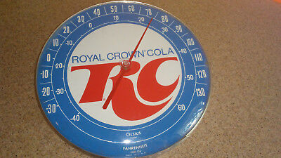 1980s jumbo dial round advertising thermometer RC Cola. ONLY TWO LEFT!