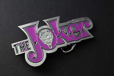 The Joker Purple Metal Belt Buckle Dc Comics Movie Vs Batman