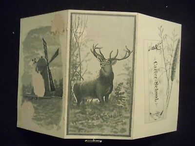victorian trade card # 5553 - CARTER SCHOOL - TRI- FOLD