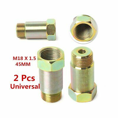 2PCS M18 x 1.5 Straight 02 O2 Oxygen Sensor 45mm Extension Spacer CEL Removal