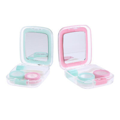 MagiDeal 2pcs Travel Cute Mini Contact Lens Case Holder Storage Container