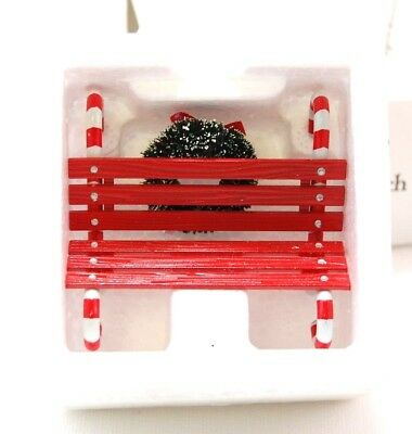 Dept 56 Village Candy Cane Bench - 52669, Christmas