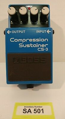 Boss Cs-3 Compression Sustainer Effects Pedal (Inv#501) Used-Works As Expected!