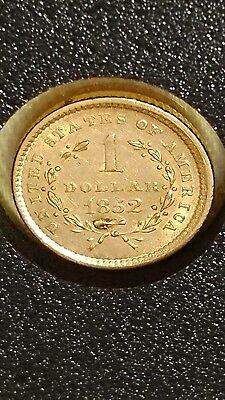 1852 G$1 Type 1 Liberty Gold Dollar Coin 165 year old collectible Stock#61618-2