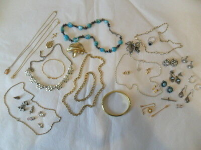 Job Lot Of Vintage Costume Jewellery.