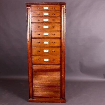 An English Oak Filing Cabinet or Chest of Drawers, Circa 1910