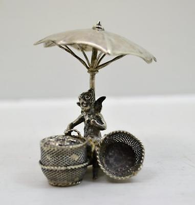 antique Hanau miniature sterling silver Angle selling hearts B.M Chester 1907