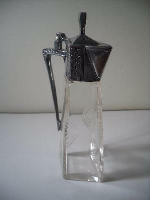 A Stylish Antique Silver Plated Art Nouveau / Jungendstil Wine Carafe : c1910
