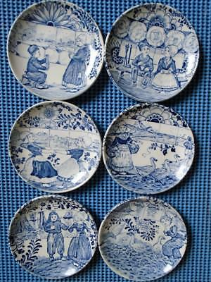 Delfts  BOCH  Blue Mini Plates Set of 6