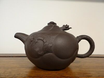 Early 20th Century Chinese Yixing Extending Dragon Head Tea Pot Stamped