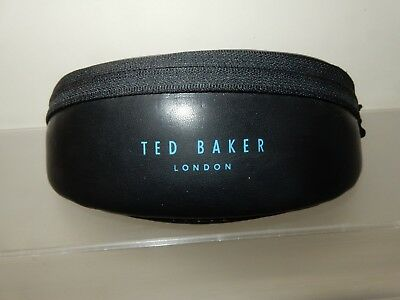 Ted Baker Black Glasses/Sunglasses Case with Blue Lining