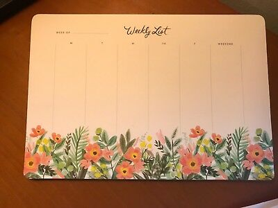 rifle paper co. honeydew floral weekly planner desk pad