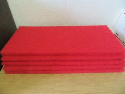 "(Lot of 5) 3M 5100 Buffer Pad 32"" X 14"" Red"