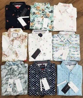 cd06f7529ea Denim   Flower + Cactus Man Ricky Singh Slim-Fit Button Front Short Sleeve  Shirt