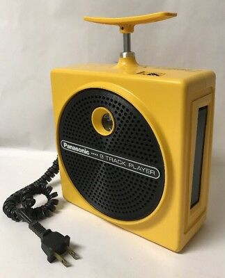 Panasonic 8 Track Player TNT RQ-830S  Yellow, Non Working for parts or repair