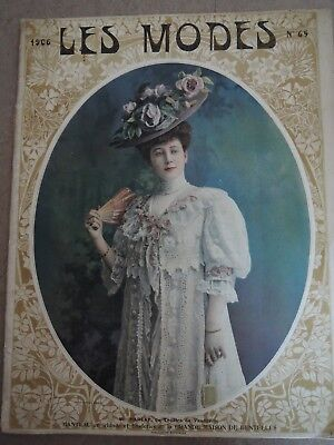 LES MODES, 1906, Paris, antike Modezeitschrift, antique French fashion magazine