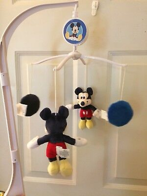 "Disney  Mickey Mouse  Baby Crib Musical Mobile ""M"" is for Mickey"