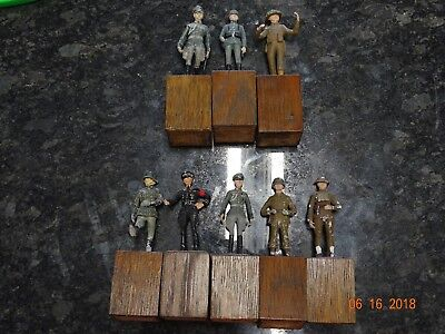 Lot Of 8 Vintage German Ww2 Lead Painted Soliders