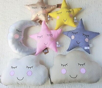 Sass & Belle Star Cloud Moon Cushion Sweet Dreams Pillow Childrens Kids Nursery