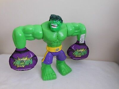 "Marvel Incredible Hulk 10"" Action Figure Walking Talking Plush Kapow Fists"