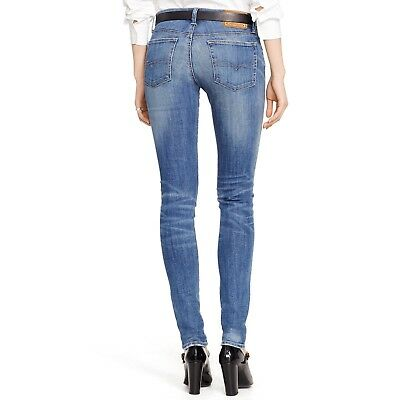 899efa74ca NWT Polo Ralph Lauren High Rise Tompkins Skinny Jeans Distressed Wash Size  27