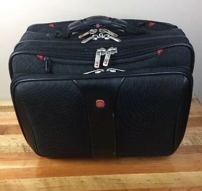 d2bb8c7dc WENGER Swiss Army Gear Black Laptop Briefcase Rolling Luggage Wheeled Bag  Roller