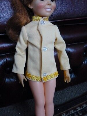 Crissy Doll. Formal Yellow shirt, very classy Crissy 1970s Clothing