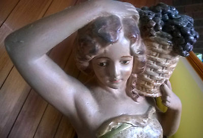 Victoria Girl Statue with Grapes