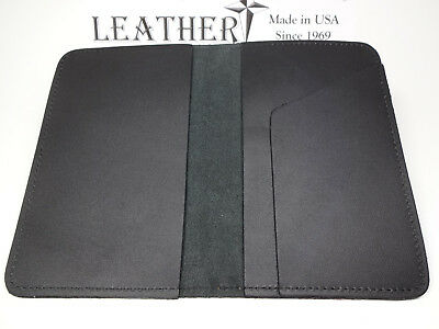 North Star Black Top-Stub Premium Grain Leather Checkbook Cover-Made In USA #131