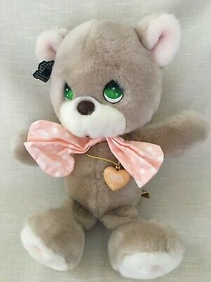 Vintage Precious Moments Cubby Teddy Bear W/locket