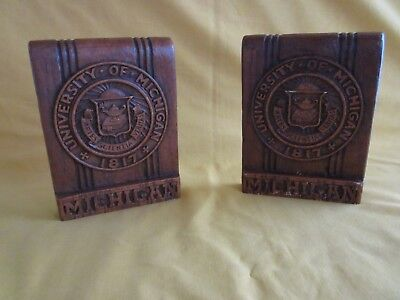 Vintage University of Michigan bookends, U of M, wolverines
