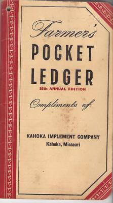 Original 1951 John Deere Farmer's Pocket Ledger