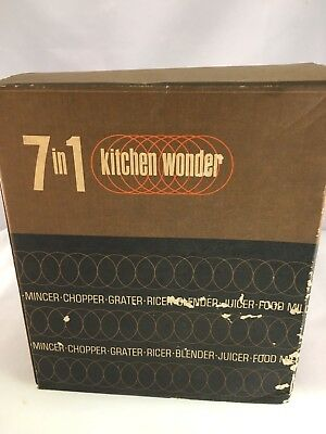 Vintage Multi Wonder Kitchen Slicer Chipping Shredding Paring Garnish Grater