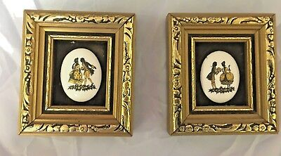 P.G.Collins 2 Signed Enamel on Copper Miniature Artworks