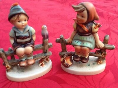"Two vintage Hummel/Goebel figurines ""Wayside Harmony ""and"" Just Resting"""