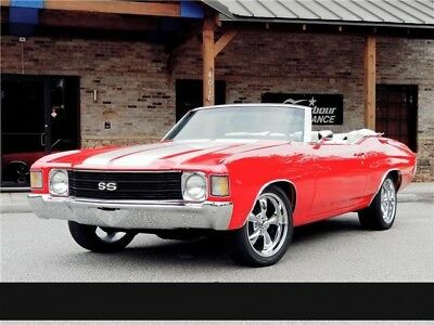 Chevelle -- 1972 Chevrolet Chevelle Convertible 4-Speed Manual Torch Red 350HP