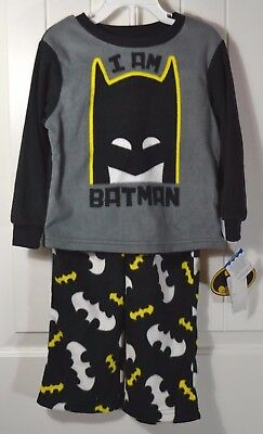 Nwt Boys Kids Dc Batman Soft Pajama Sleeper Shirt Pants 2 Piece Set Sz 4T
