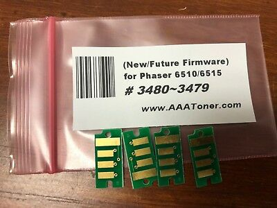 4 x HY Toner Chip (3480  ~ 3477) for Xerox Phaser 6510, WC 6515 Refill (USA)