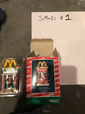 Enesco Treasury Mcdonald's 1992 Holiday Take Out with Original Box and Packaging