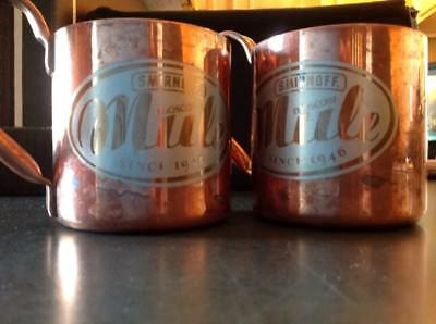 Vintage Smirnoff Moscow Mule Copper Mugs