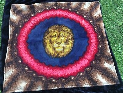 Rare Antique Strook Lion's Head Horsehair Buggy/Sleigh Blanket - Near Mint!